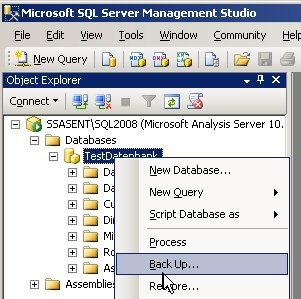 BackUp in SQL Server Management Studio