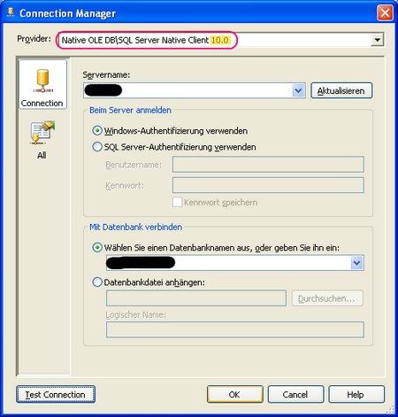 Verwendung des neuen Treibers von SQL 2008