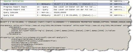 SQL Profiler Ergebnis der langsamen Abfrage